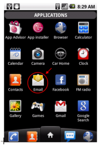 Open the email app