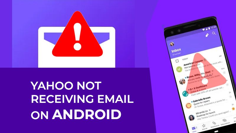 Yahoo Not Receiving Email On Android