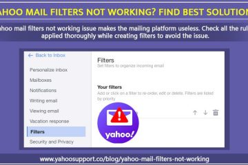 Yahoo mail filters not working