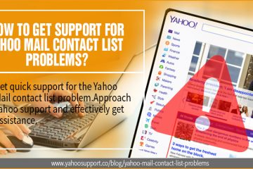 Yahoo mail contact list problems